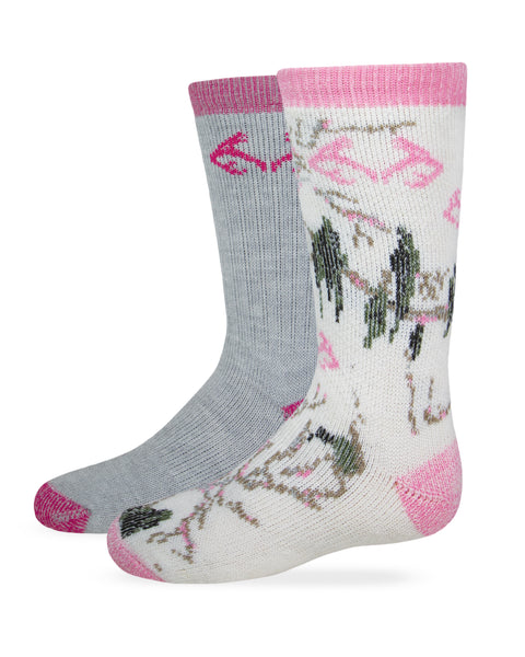 Realtree Girl's Camo Boot Socks 2 Pair