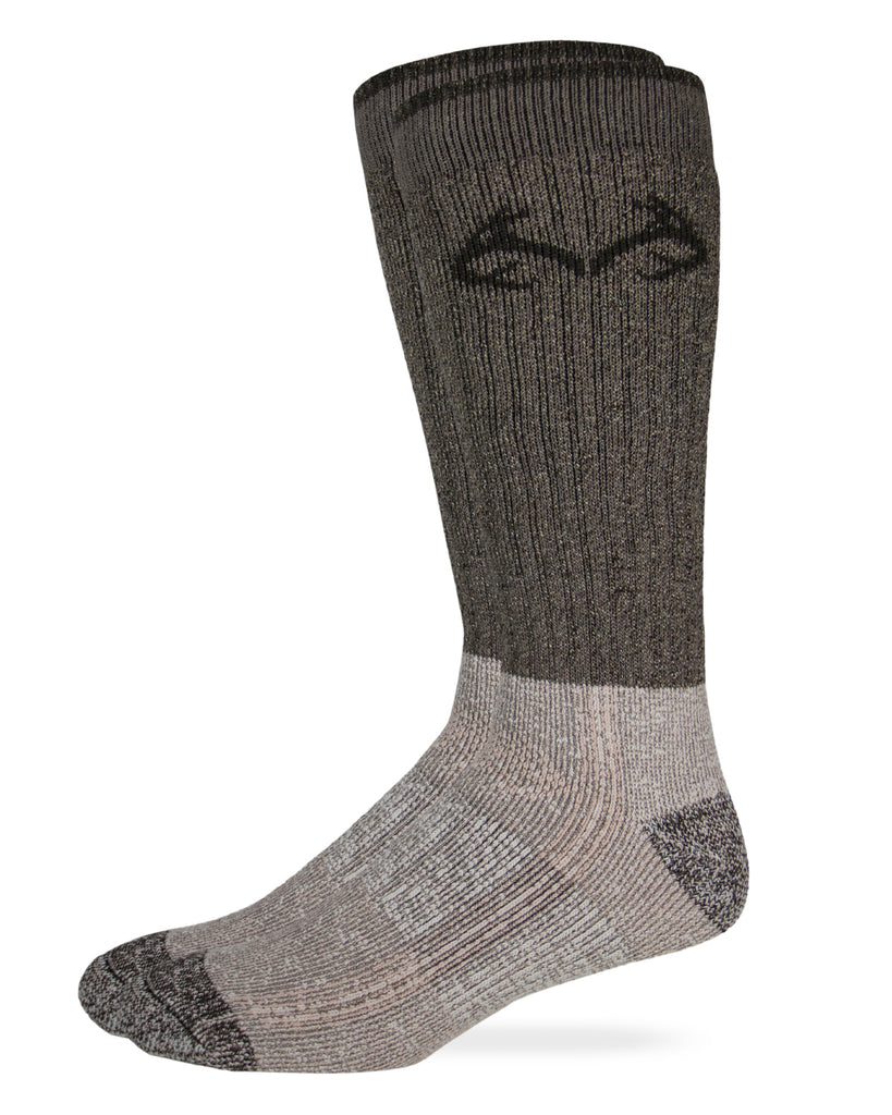 Realtree Men's Cupron Antimicrobial Merino Wool Boot Socks 1 Pair