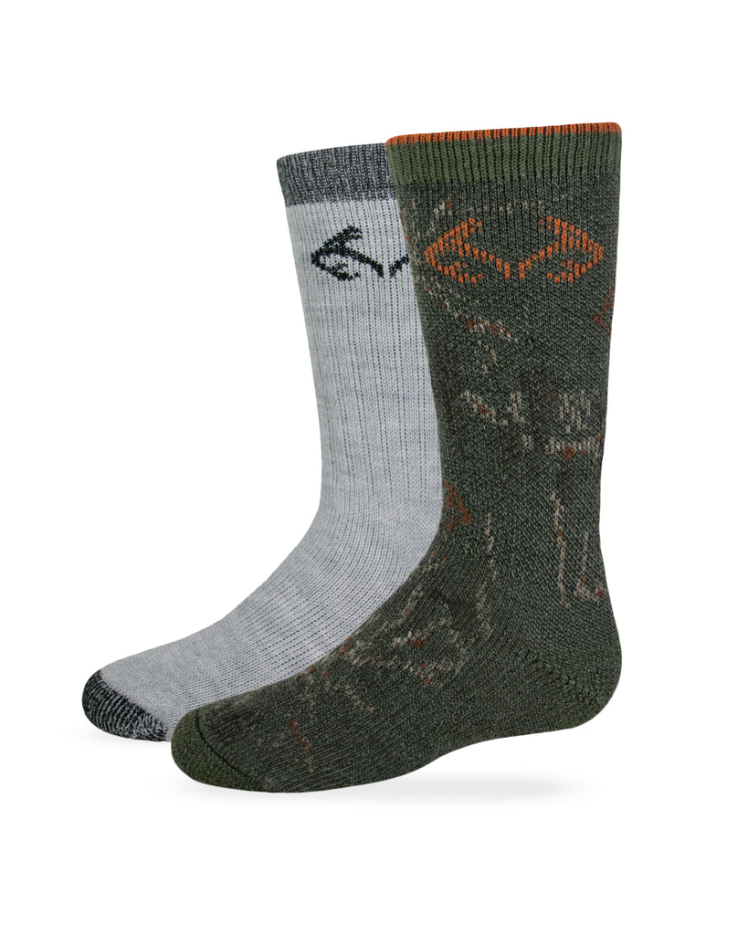 Realtree Boys Camo Boot Socks 2 Pair