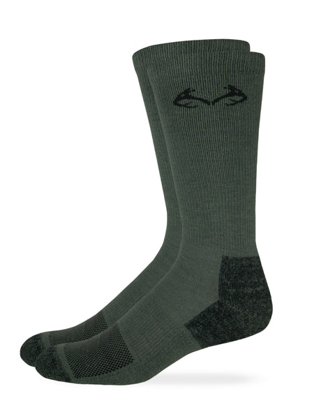 Realtree Men's Insect Shield Ultra-Dri Crew Socks 1 Pair