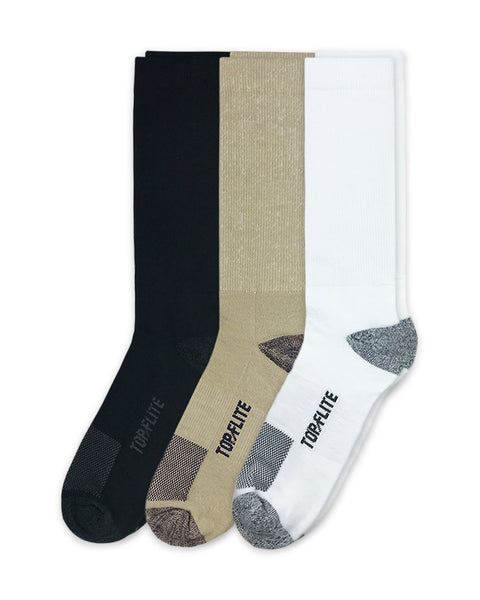 Top Flite Men's Ultra Dri Crew Socks 2 Pair Pack