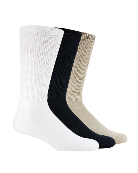Carolina Ultimate Non-Binding Cotton Mid Calf Socks 2 Pair