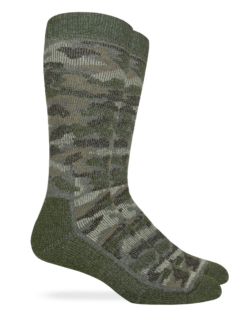 Carolina Ultimate Men's Camo Merino Wool Blend Boot Socks 1 Pair