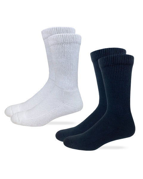 Carolina Ultimate Non-Binding Cotton Crew Socks 2 Pair
