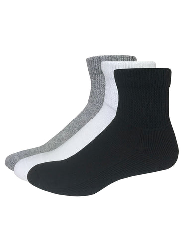 Carolina Ultimate Non-Binding Cotton Quarter Socks 2 Pair