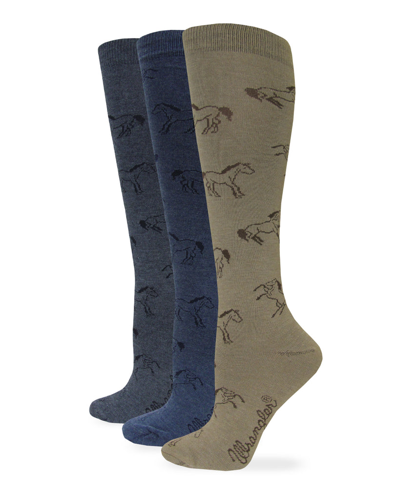 Wrangler Ladies Horse Pattern Knee High Socks 1 Pair