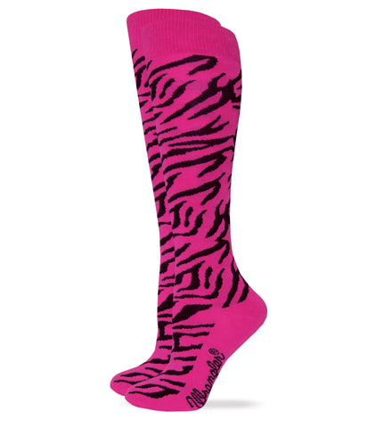 Wrangler Ladies Zebra Pattern Knee High Boot Socks 1 Pair