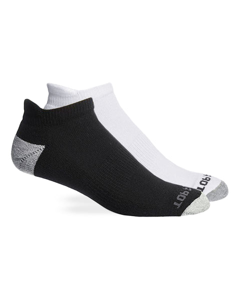 Top Flite Men's Ultra-Dri Heel Tab Low Cut Socks 2 Pair Pack