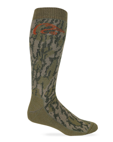 Ducks Unlimited Mossy Oak Original Bottomland Merino Wool Camo Socks 1 Pair