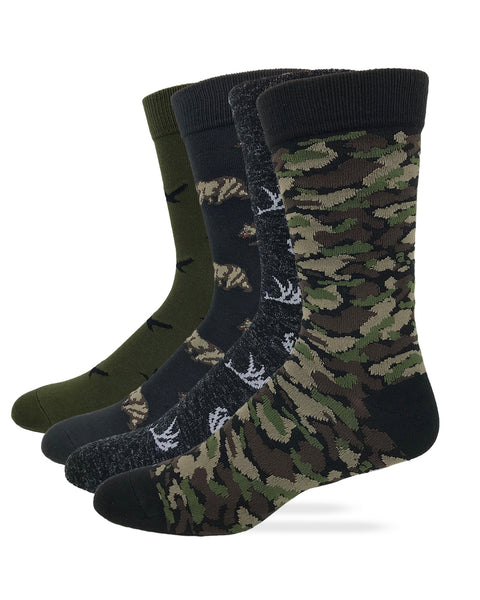 Outdoor Obsession Men's Animal Camo Pattern Dress Socks 1 Pair