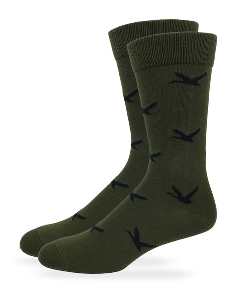Mens Duck Pattern Crew Dress Socks 1 Pair