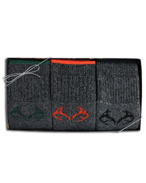 Realtree Men's Merino Wool Blend Socks Gift Box 3 Pair