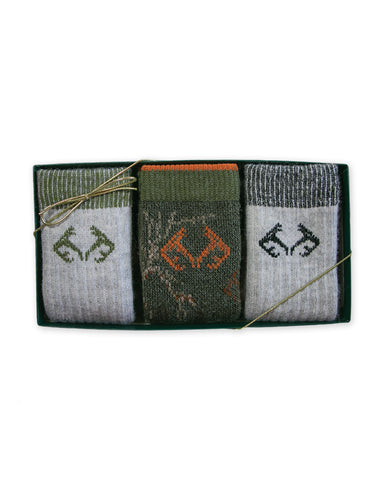 Realtree Youth Boys Ultra-Dri Socks Gift Box 3 Pair