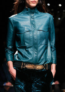 Blue Leather Jackets: The New Trend You Wouldn't Want To Miss