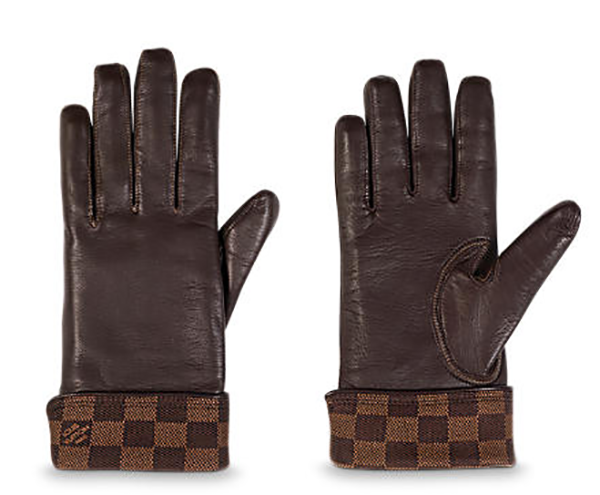 Damier Gloves By Louis Vuitton For Men