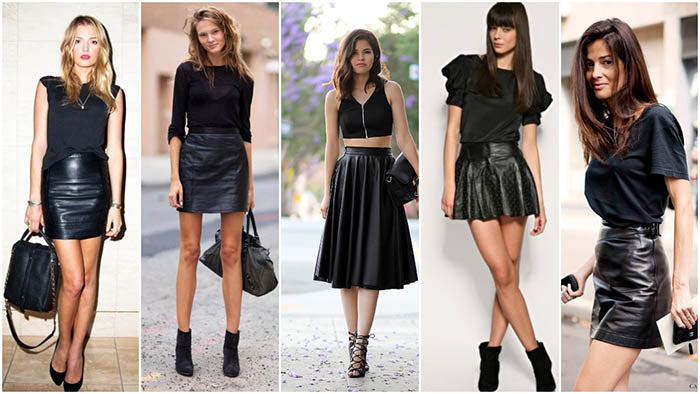 The Coolest Way To Wear Leather Skirts This Winter