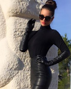 leather gloves fashion
