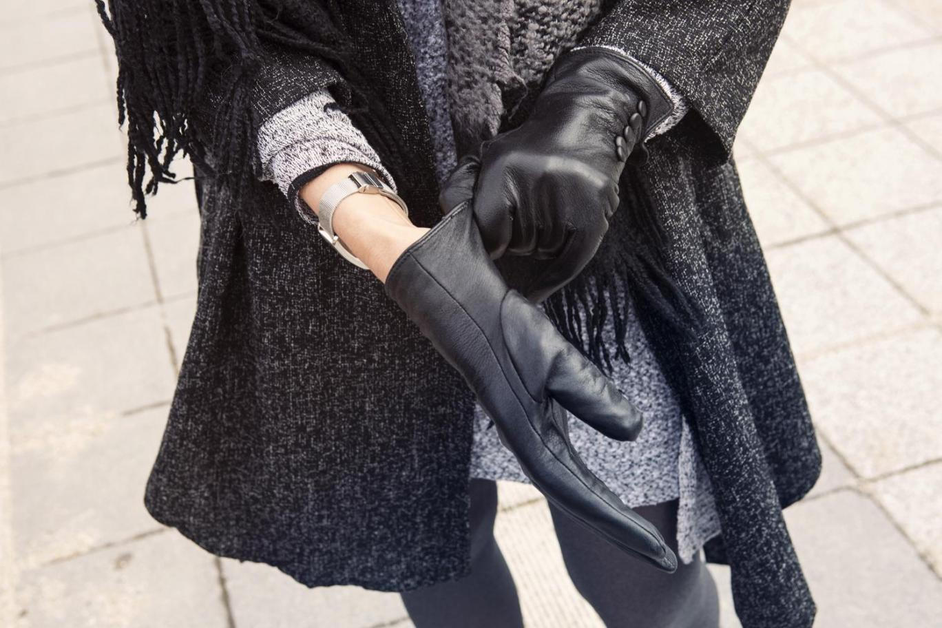 stretch leather gloves