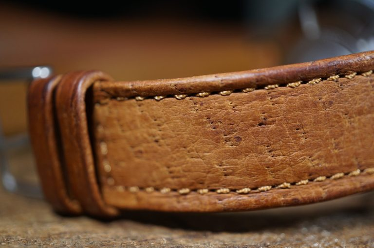 peccary leather watch band