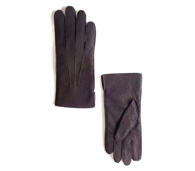 black peccary leather gloves alpamayo