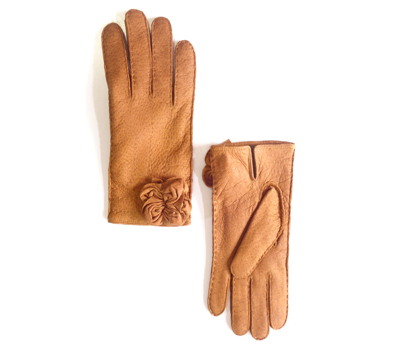 paula peccary leather gloves