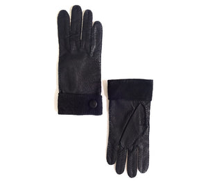 peccary leather gloves black sebastian