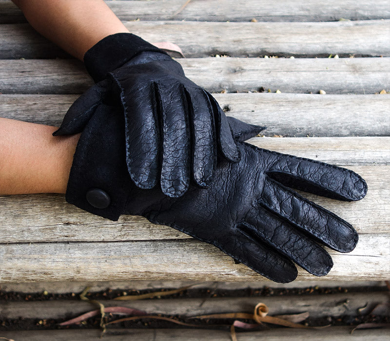 sebastian black peccary gloves