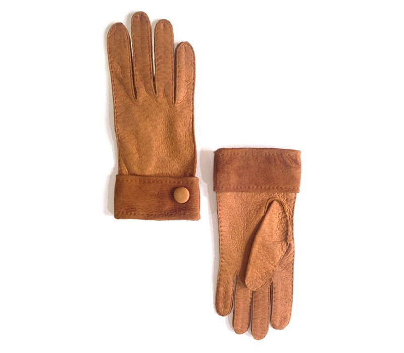 Sebastian - Peccary leather gloves - men