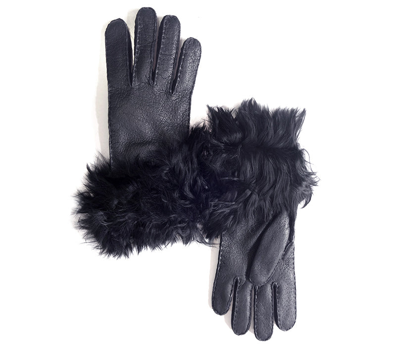 Talula - Peccary leather gloves - women