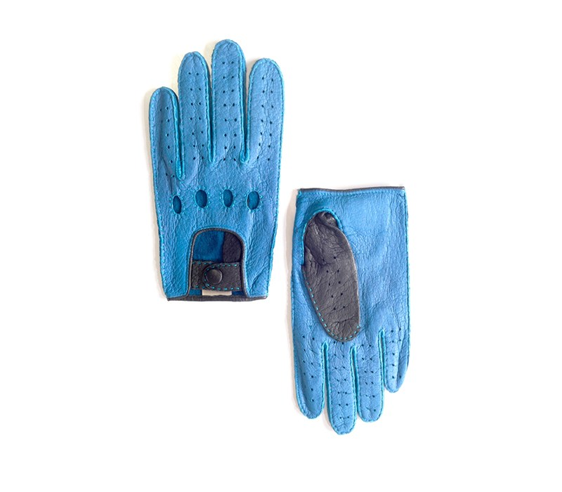 peccary leather gloves cobalt jaime