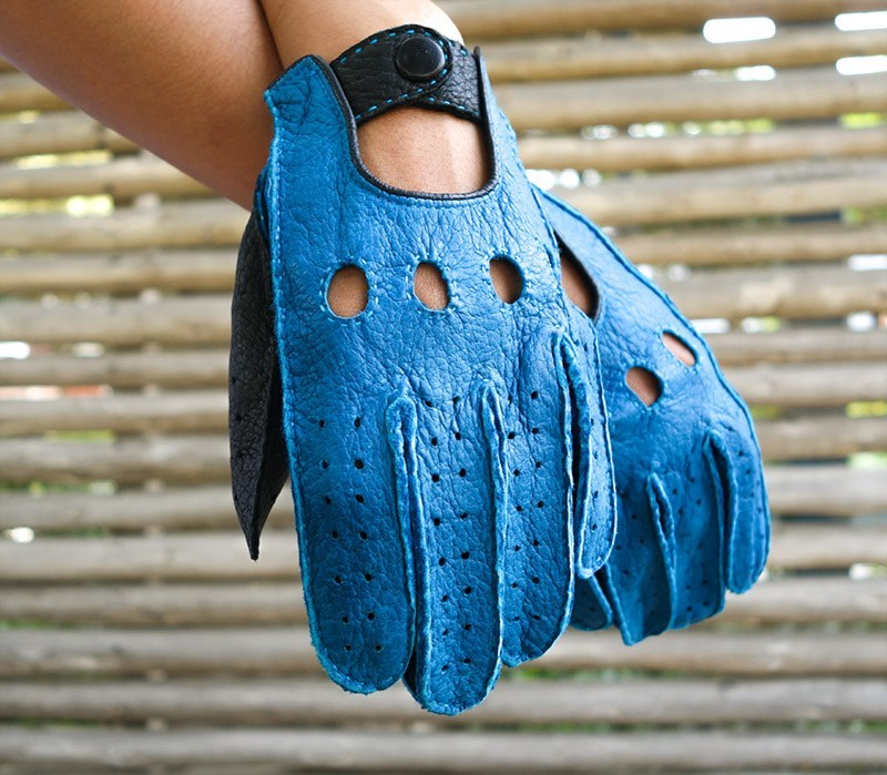 jaime cobalt peccary gloves both