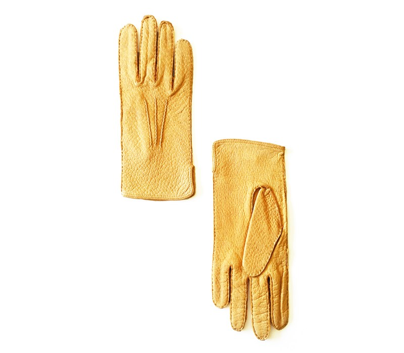 peccary leather gloves huascaran yellow