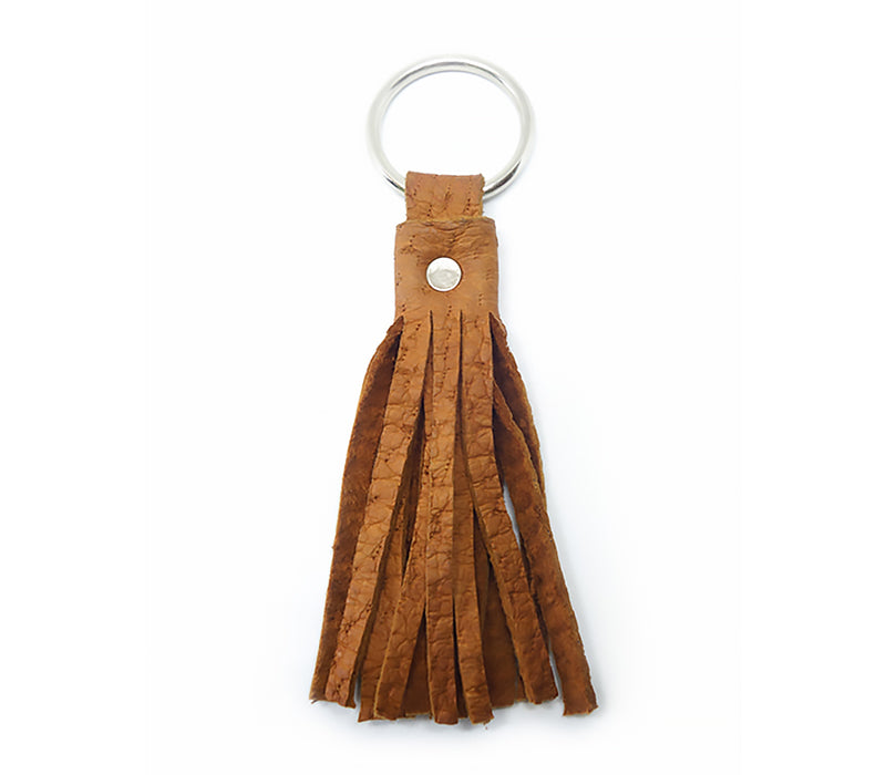 roux cork peccary keychain