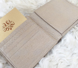beige peccary wallet