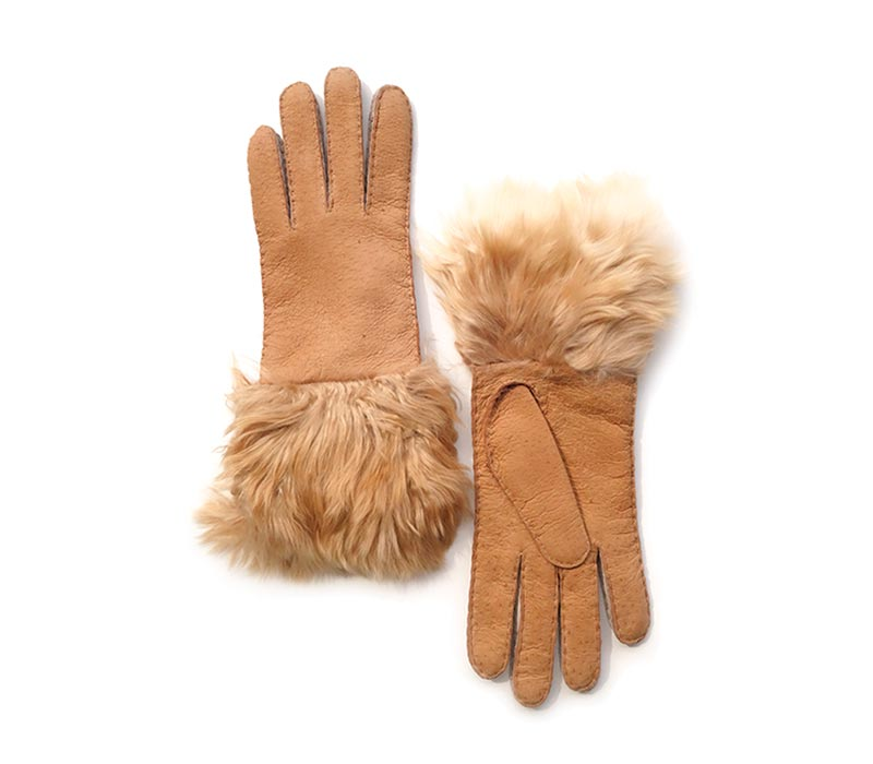 Arisa - Peccary leather gloves - women