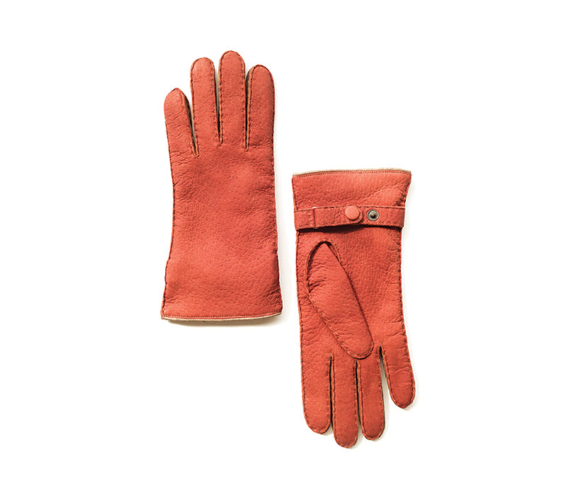 Eva - Peccary leather gloves - women