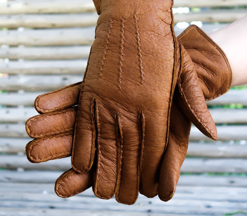 Alpamayo - Peccary leather gloves - women