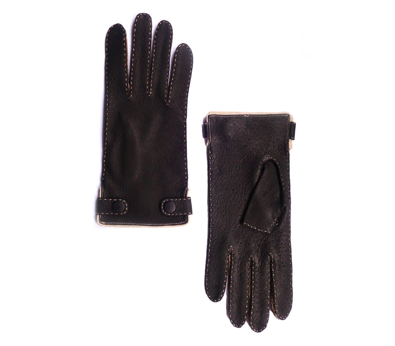 Lena - Peccary leather gloves - women