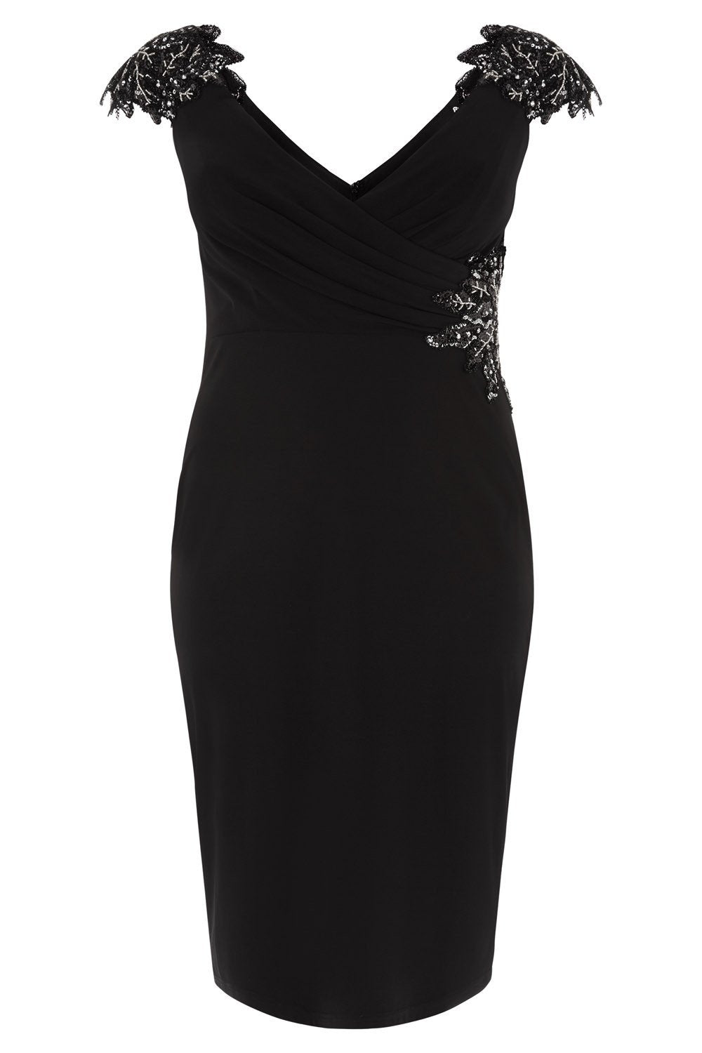 10327 - Dynasty Curve Black Cocktail Dress