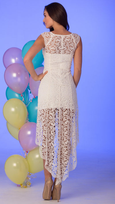 Nataliya Cream Lace Dress