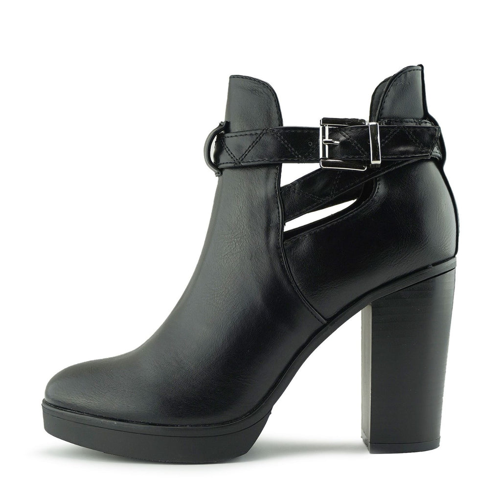 Dakota Cut Out Chunky Ankle Boot