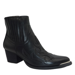 Billie Black Western Ankle Boots