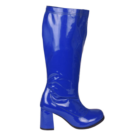 Betty Block Heel Retro Boots - Blue