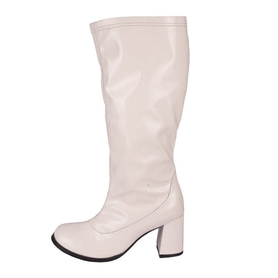 knee high boots white