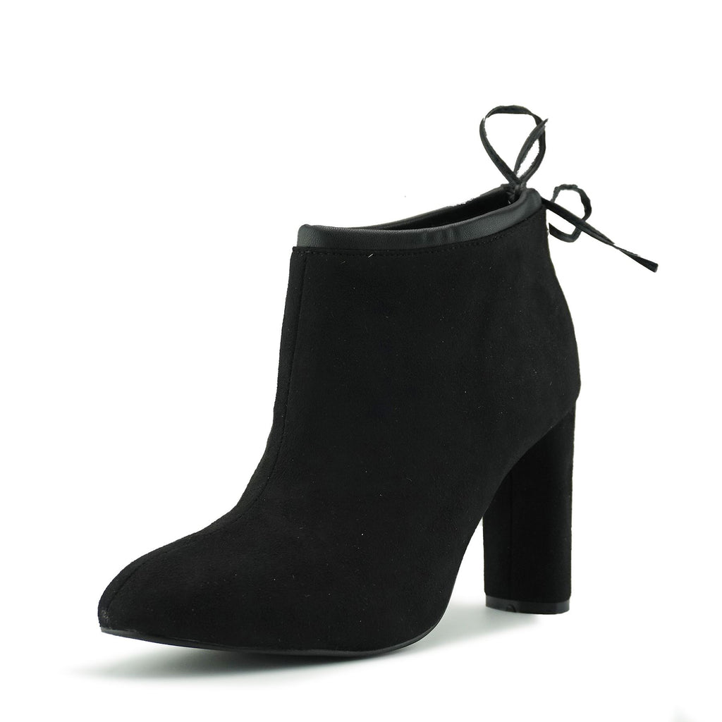 Lara Block Heel Soft Ankle Boot - Black
