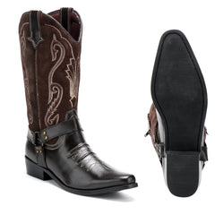 Duke Brown Suede Cowboy Boots