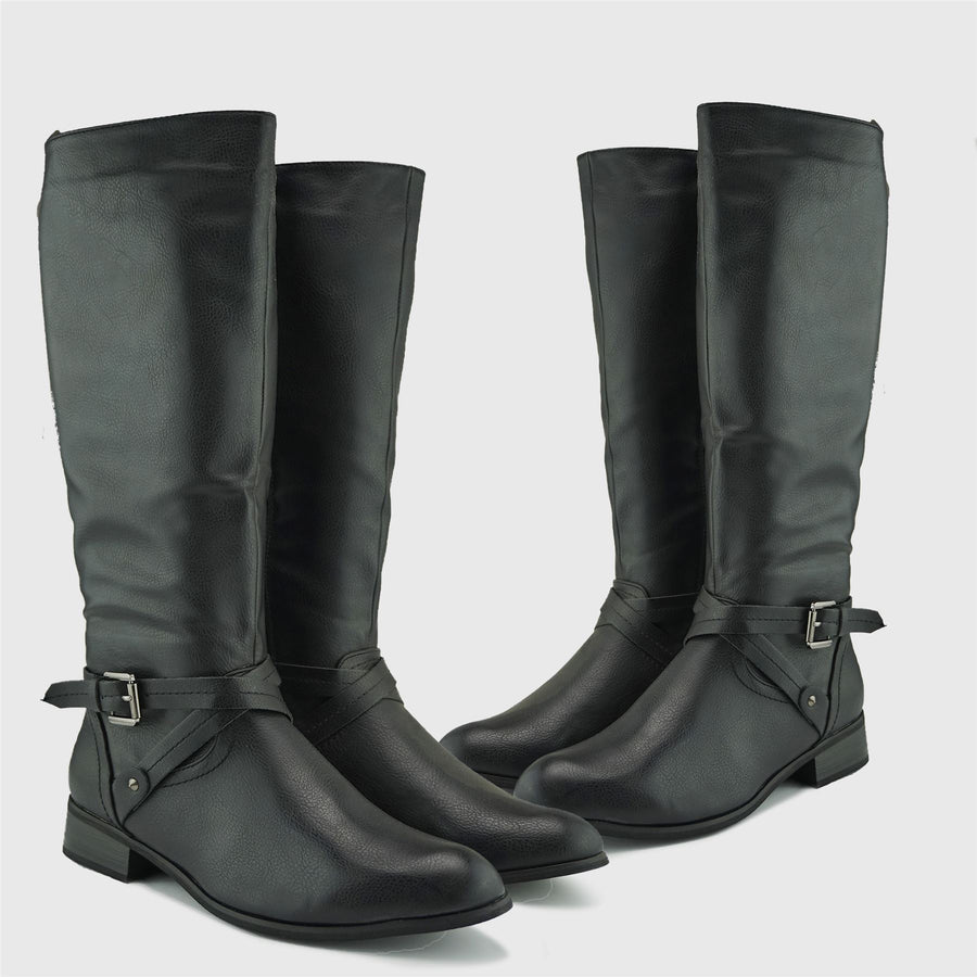 Winslet Long Winter Boots - Black