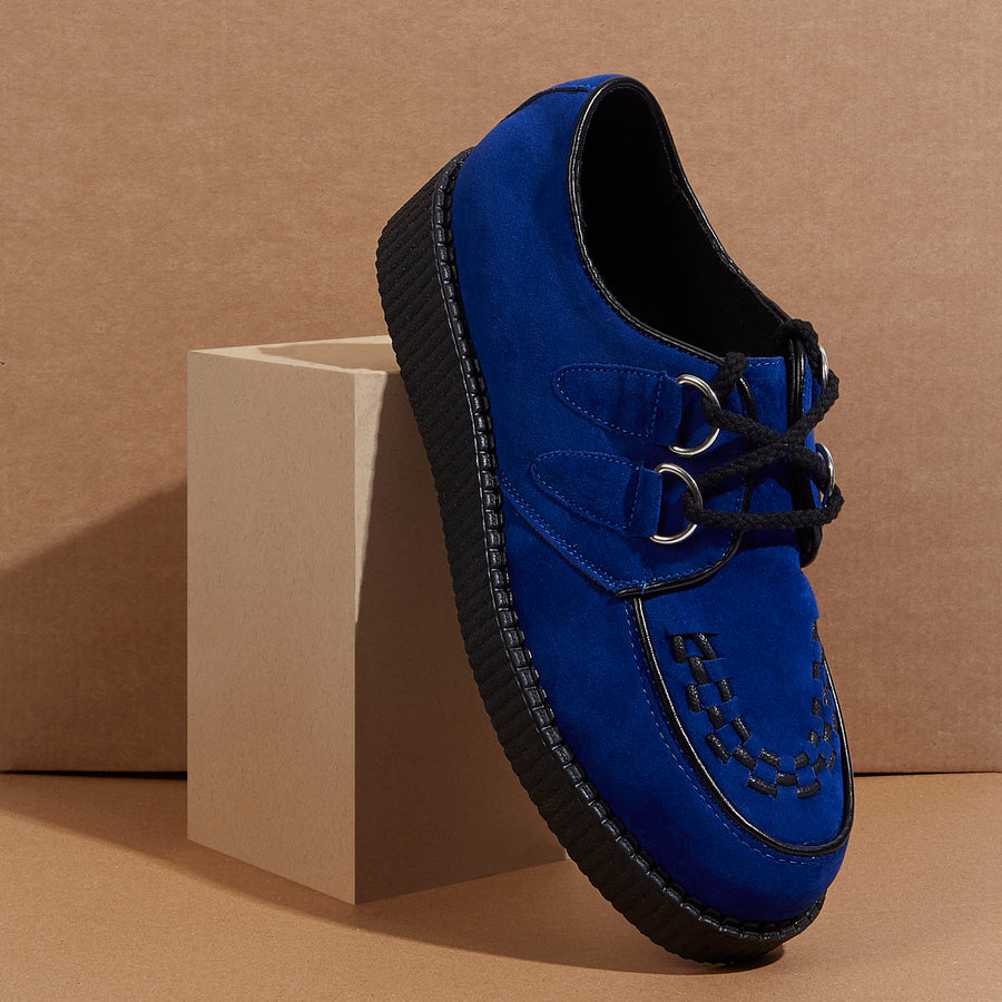 Rebel Leather Blue Creepers