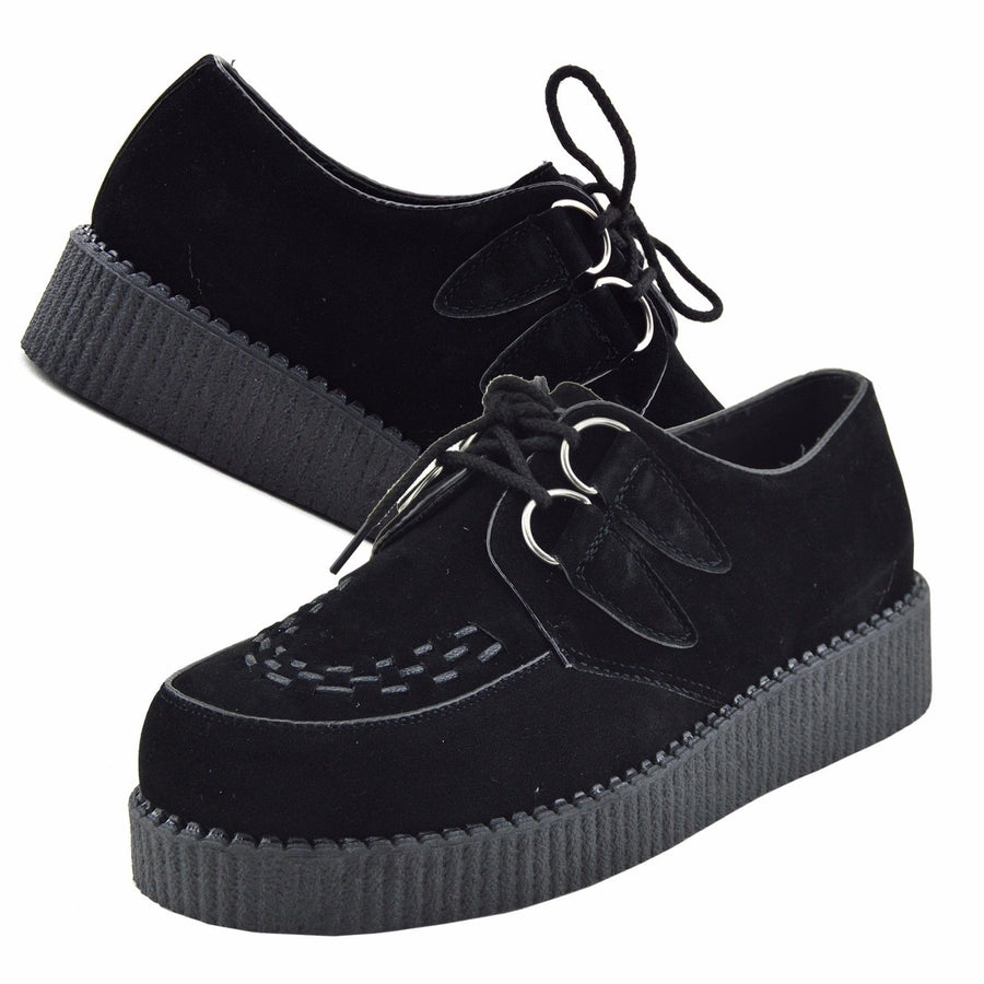 Rebel Leather Black Creepers