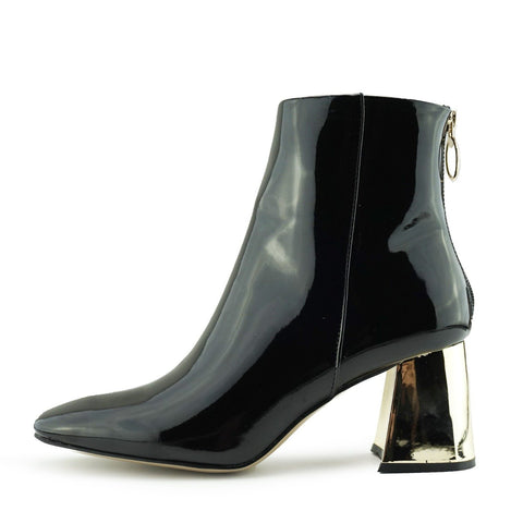 Farrow 60's Metallic Block Heel Boots - Black